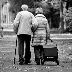 man, woman, elderly couple